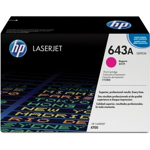 HP 643A Toner Cartridge - Magenta - Laser - 10000 Page - 1 Each