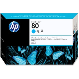 HP 350ml No. 80 Ink Cartridge - Cyan