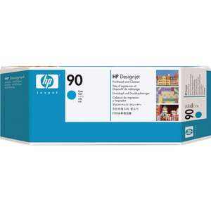 HP 90 Cyan Printhead with Cleaner