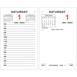 At A Glance Daily Two Color Desk Calendar Refill With Tabs Servmart
