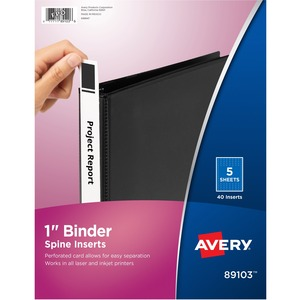 avery binder spine inserts servmart