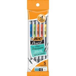 BIC Grip Mechanical Pencil - #2 Lead - 0.5 mm Lead Diameter - Black Lead - 5 / Pack