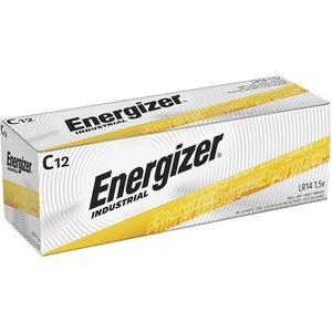 Energizer Industrial Alkaline C Batteries - 8350 mAh - C - Alkaline - 1.5 V DC - 12 / Box
