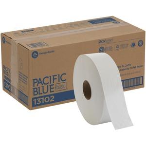 "Georgia-Pacific Envision Jumbo Sr. Bathroom Tissue - 2 Ply - 3.50"" x 2000 ft - White - 6 / Carton"