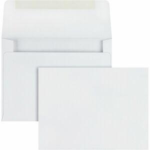 """Quality Park Invitation Envelopes - Announcement - #5-1/2 - 4 3/8"""" Width x 5 3/4"""" Length - 24 lb - Gummed - Wove - 100 / Box - White"""