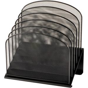 Safco Onyx Wire Mesh Desktop Organizer - 5 Compartment(s) - 1