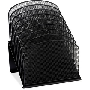 Safco Onyx Wire Mesh Desktop Organizer - 8 Compartment(s) - 1