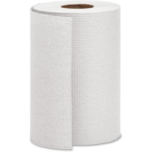 """Genuine Joe Hardwound Roll Paper Towels - 7.88"""" x 350 ft - White - Absorbent - For Restroom - 12 / Carton"""