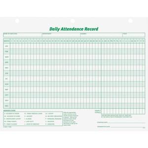 tops daily employee attendance record form servmart