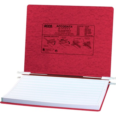 "ACCO® PRESSTEX® Covers w/ Hooks, Unburst 14 7/8"" x 11"" Sheets, Executive Red ACC54079"