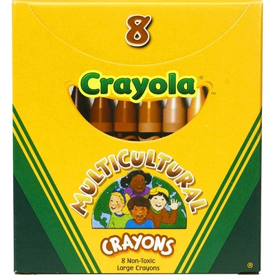 Crayola Large Multicultural Crayons - Assorted - 8 / Box