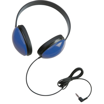 Califone Childrens Stereo Blue Headphone Lightweight - Stereo - Blue - Mini-phone - Wired - 25 Ohm - 20 Hz 20 kHz - Over-the-head - Binaural - Circumaural - 5.50 ft Cable