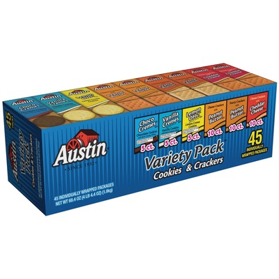 Charming Austin® Cookies U0026 Crackers Variety Pack Choco Creme, Vanilla Creme, Lemon  Ohs!, Cheese, Peanut Butter   Pouch   4.27 Lb   45 / Carton