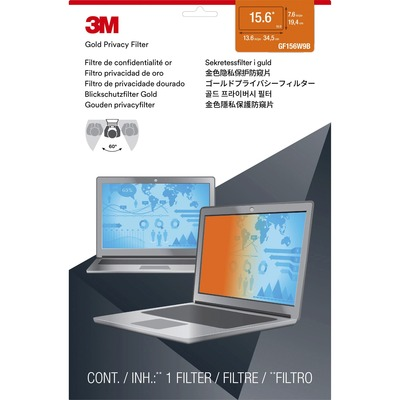 """3M™ Gold Privacy Filter for 15.6"""" Widescreen Laptop MMMGF156W9B"""