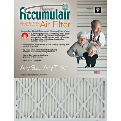 "Accumulair Platinum Air Filter 22"" Height x 22"" Width x 1"" Depth FLNFA22X224"