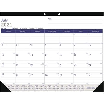 Brownline Duraglobe Academic Monthly Desk Pad Academic