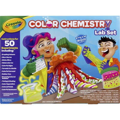 Crayola Chemistry Lab Set Steam Toy 50 Colorful Experiments - Theme/Subject: Fun - Skill Learning: Chemistry, Science Experiment, Educational, Creativity - 7 Year & Up