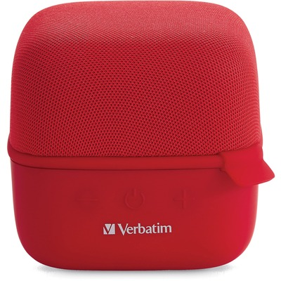 Verbatim Bluetooth Speaker System - Red - 100 Hz to 20 kHz - TrueWireless Stereo - Battery Rechargeable