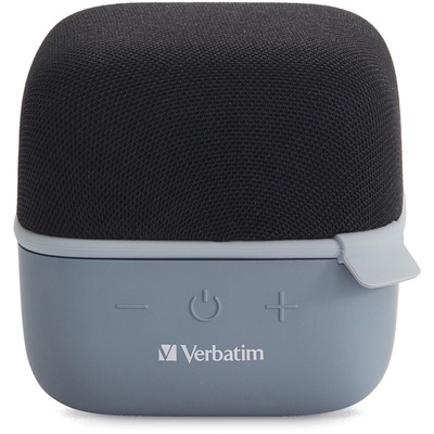 Verbatim Bluetooth Speaker System - Black - 100 Hz to 20 kHz - TrueWireless Stereo - Battery Rechargeable