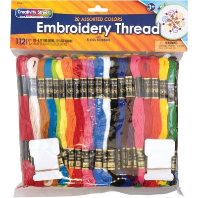 Pacon Embroidery Thread Pack - Assorted