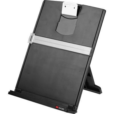 3M Desktop Fold Flat Freestanding Document Holder, Black, Gray MMMDH340MB