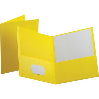 ESS57509 - Esselte 2 Pocket Folder Portfolio Yellow  Bargain Office    Clip Art Pocket Folder