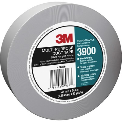 3M Multi-Purpose Duct Tape, Utility Grade, 48mm x 54.8m, Silver MMM3900