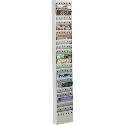 Safco 23 Pocket Steel Magazine Rack SAF4322GR