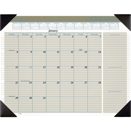 At-A-Glance Executive Monthly Calendar Desk Pad AAGHT1500