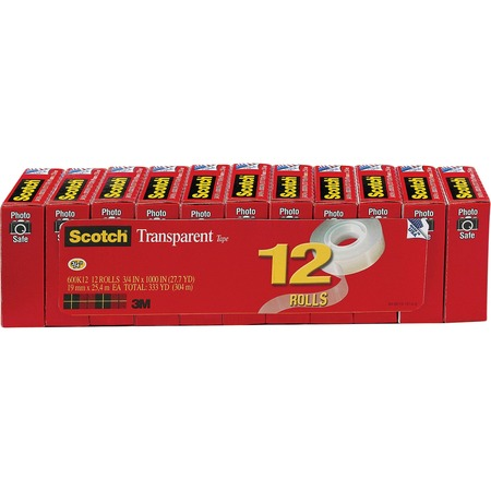 Scotch Glossy Transparent Tape MMM600K12