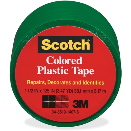 Scotch Extra Stretchy Colored Plastic Tape MMM191GN-BULK