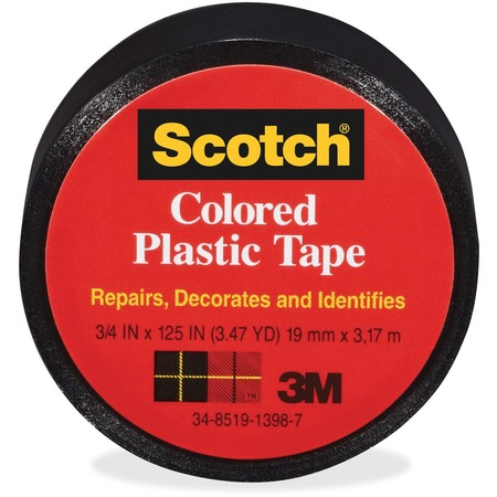 Scotch Extra Stretchy Colored Plastic Tape MMM190BK-BULK
