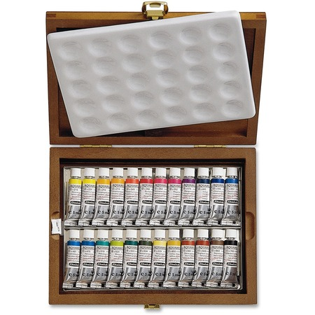 Schmincke Aquarell 24-Color Tubes Wooden Box Set SEP74224097-BULK