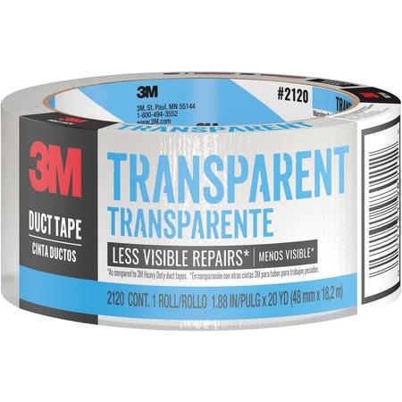 "Scotch® Tough Transparent Duct Tape, 1.88 "". x 20 yd. MMM2120C-BULK"