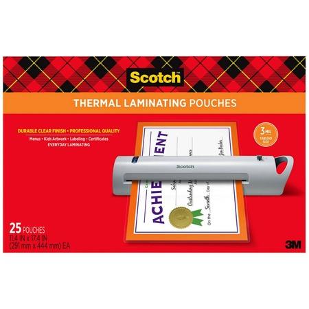 Scotch Thermal Laminator Menu Size Pouches MMMTP385625
