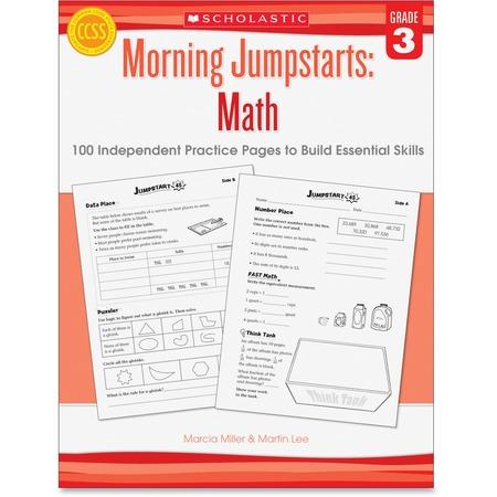 Scholastic Res. Grade 3 Morning Jumpstart Math Workbook Printed Book SHS545464161