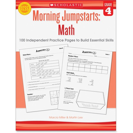 Scholastic Res. Grade 4 Morning Jumpstart Math Workbook Printed Book by Martin Lee, Marcia Miller SHS054546417X