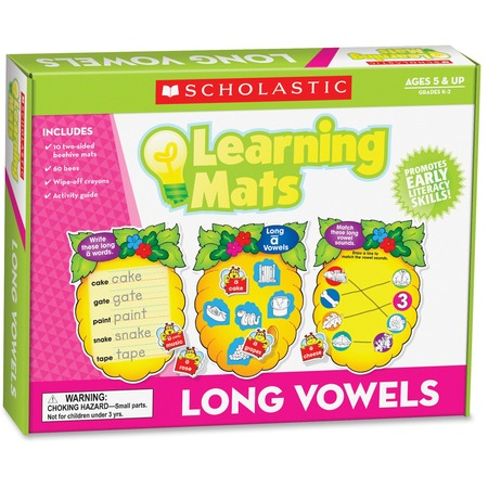 Scholastic Res. Grade K-2 Long Vowels Learning Mats SHS0545302153