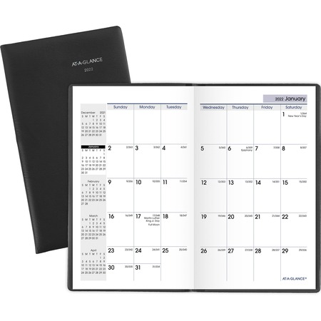 2019 January x December 2018 at-A-Glance DayMinder Monthly Pocket Planner