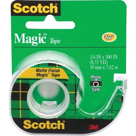 Scotch Dispensing Matte Finish Magic Tape MMM105