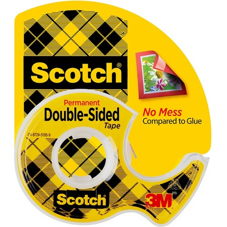 Scotch Double-Sided Tape w/Dispensers MMM137