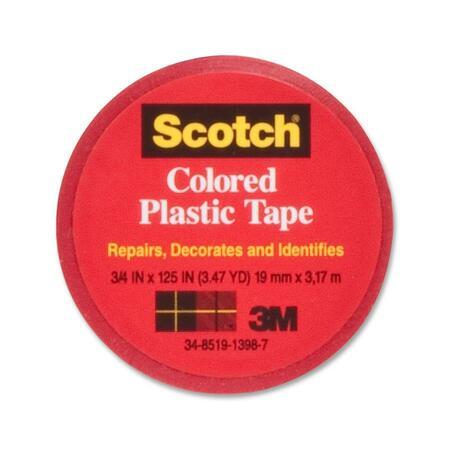 Scotch Colored Vinyl Plastic Tape MMM190RD-BULK