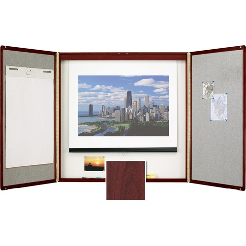 Quartet Veneer Conference Room Cabinet Product image - 25