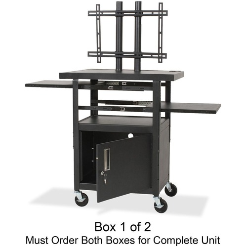 Reliable Adjustable Height Flat Panel Tv Cart Box Balt