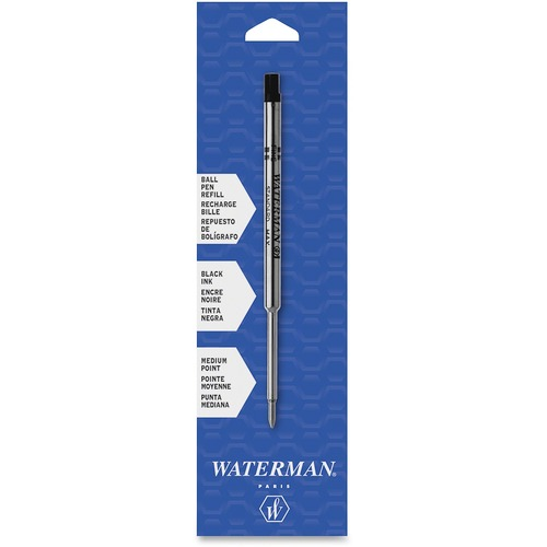 Fine or Medium Black or Blue Waterman Ballpoint Refill for Ballpoint Pens