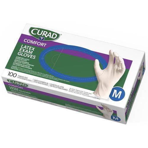 Curad PF Latex Exam Gloves CUR8105 Medline