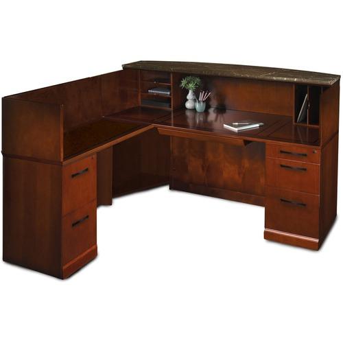 Srcslm Marble Top Reception Desk Left Hand Return Sorrento