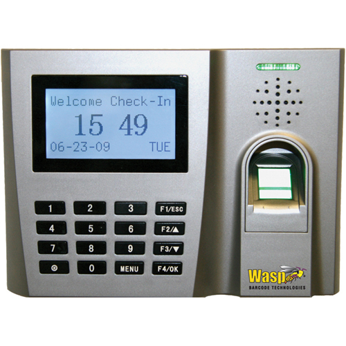Wasp WaspTime 633808523831 Electronic Time Clock - Biometric - Digital