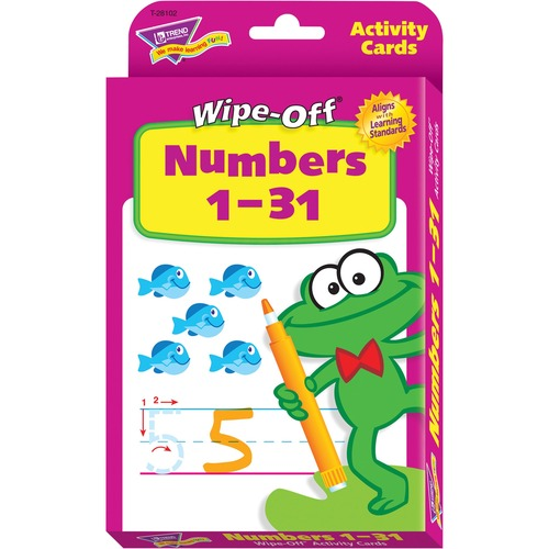 Trend Numbers 1-31 Wipe-off Activity Cards t28102