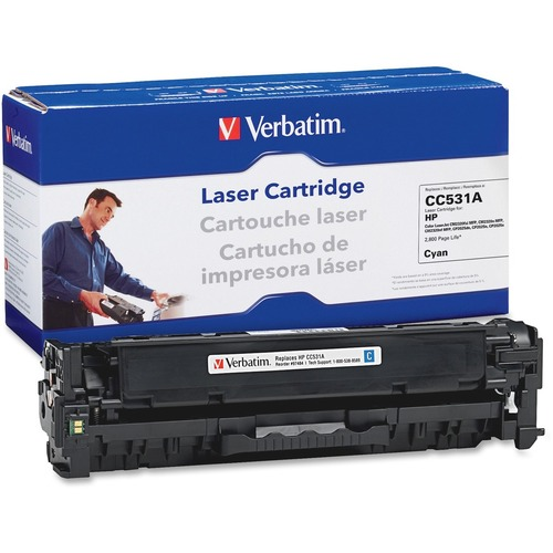 Verbatim HP CCA Cyan Remanufactured Laser Toner Cartridge Product image - 4294